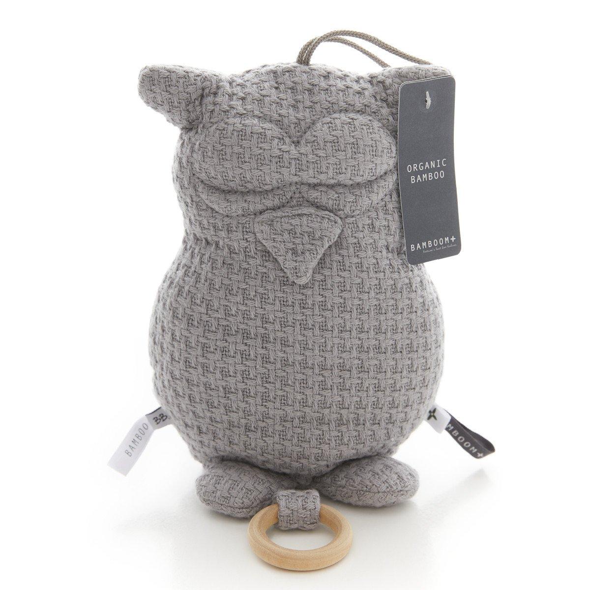 Music box Owl in bamboo