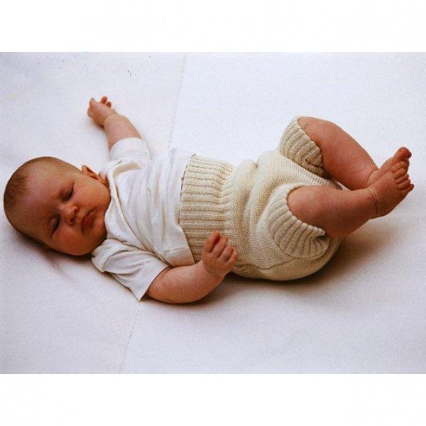 Mutandina copri pannolino in lana a maglia Disana