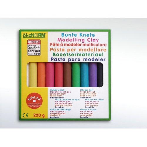 Plastilina naturale 10 colori Nawaro