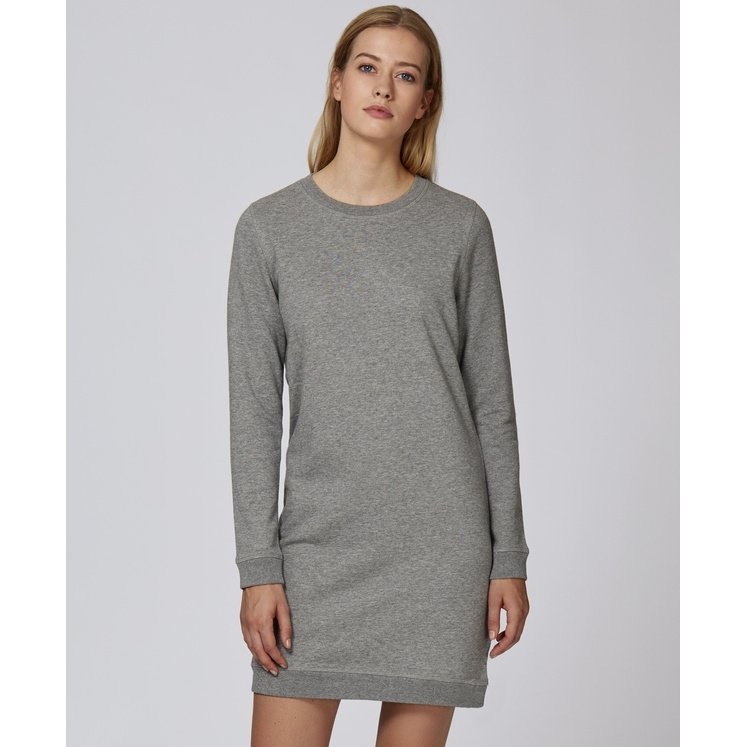 Crew neck sweatshirt dress