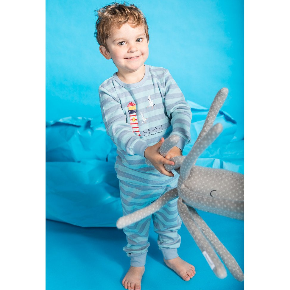 Fairtrade Pyjama lighthouses in organic cotton