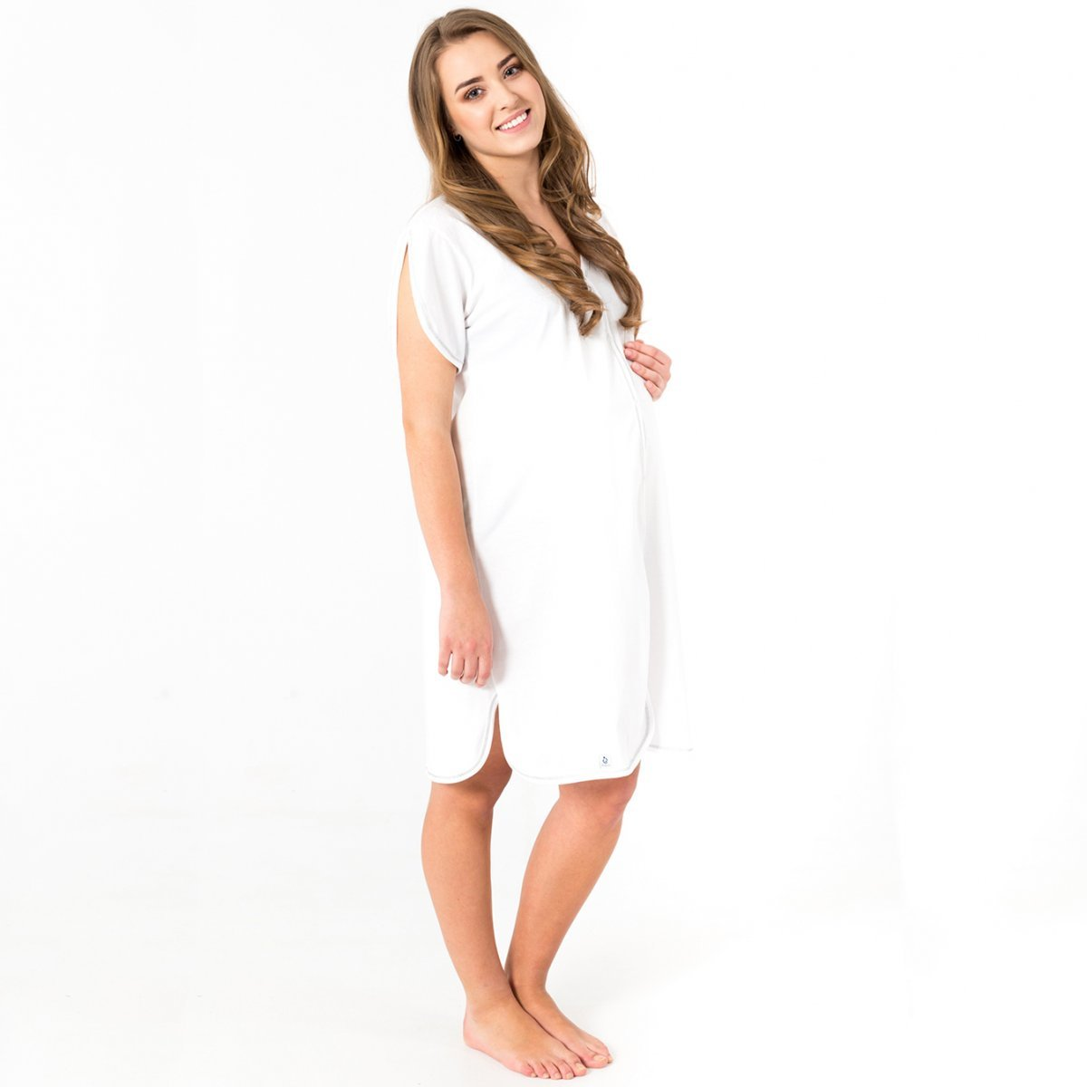 Bamboo nightdress with short sleeves