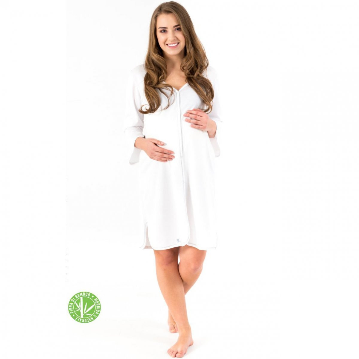Bamboo long sleeve nightdress