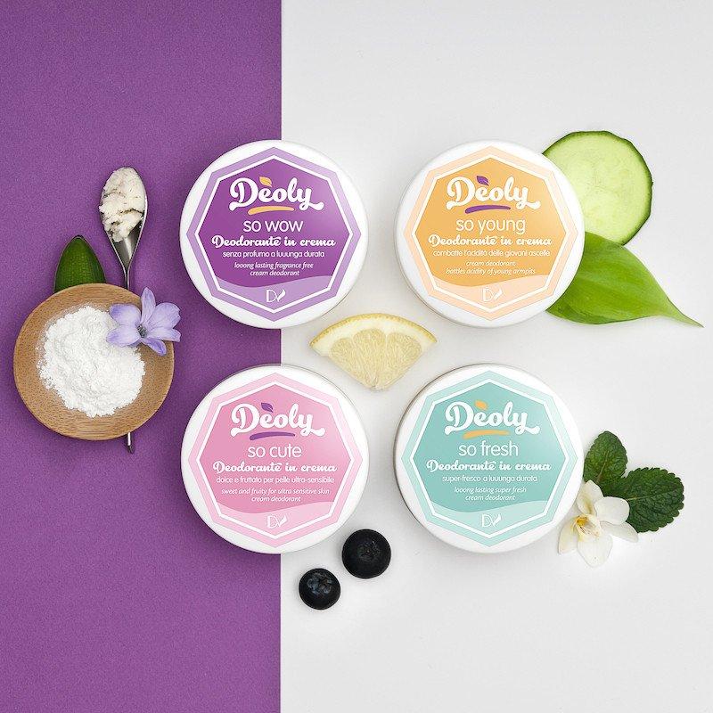 Deoly Pocket cream deodorants - 4 travel size