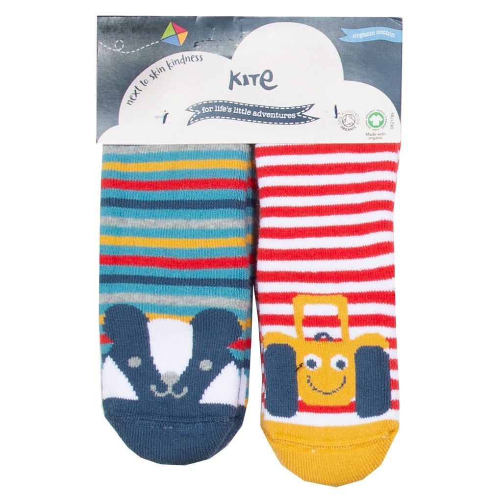 Non-slip socks in organic cotton