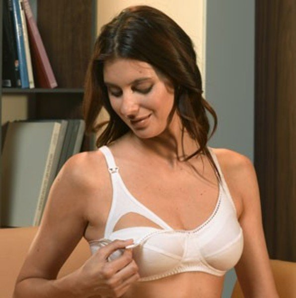 Nursing bra in organic cotton