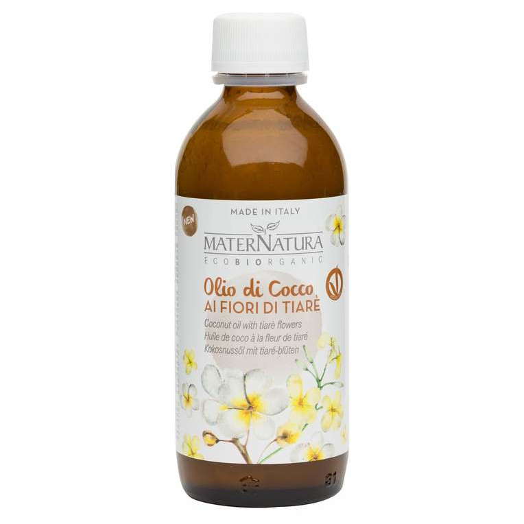 Olio di cocco ai fiori di Tiarè rigenerante ristrutturante sui capelli