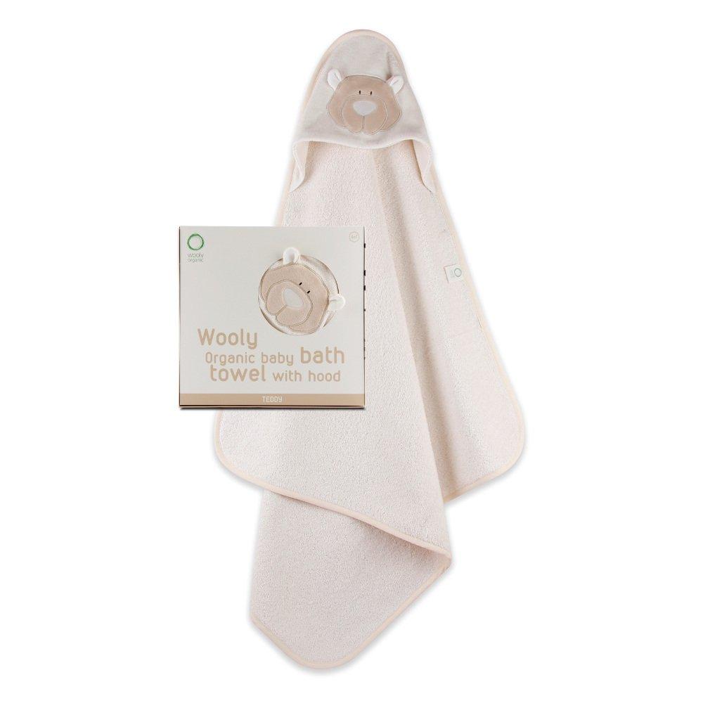 Teddy-organic cotton baby bath towel with hood