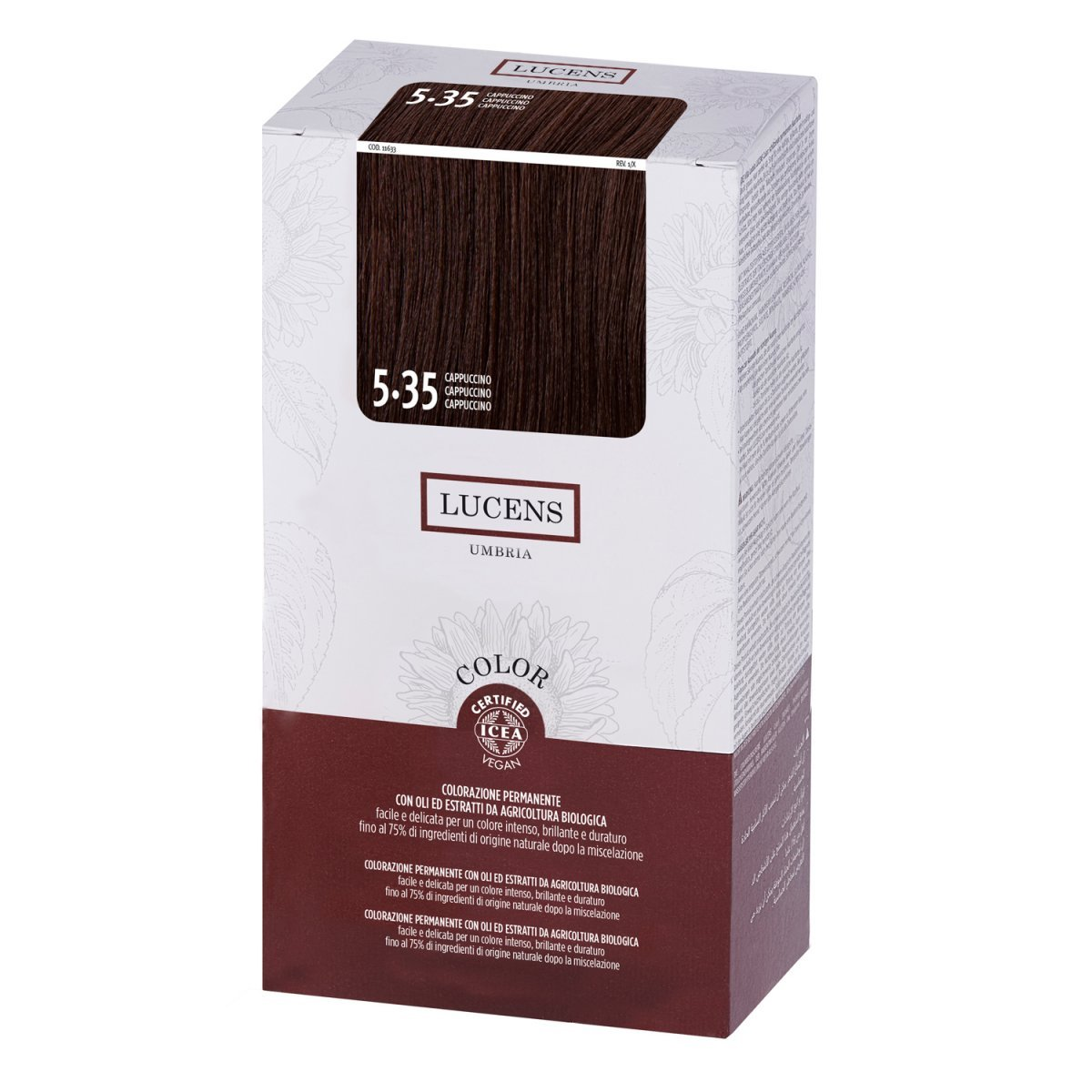 Organic Permanent Hair Color 5.35 Cappuccino