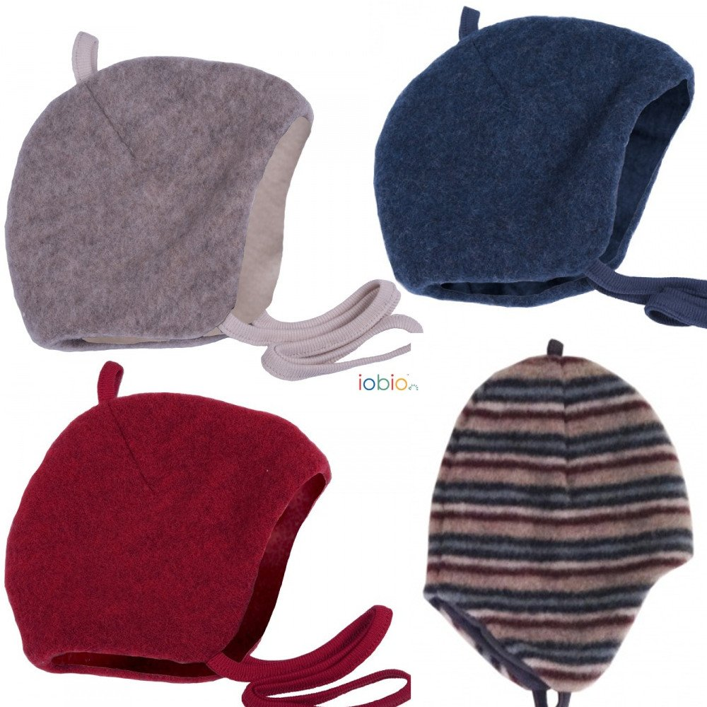 Organic wool fleece bonnet Popolini
