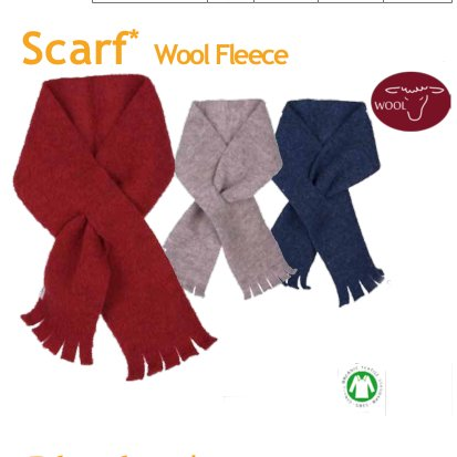 Organic wool fleece scarf Popolini