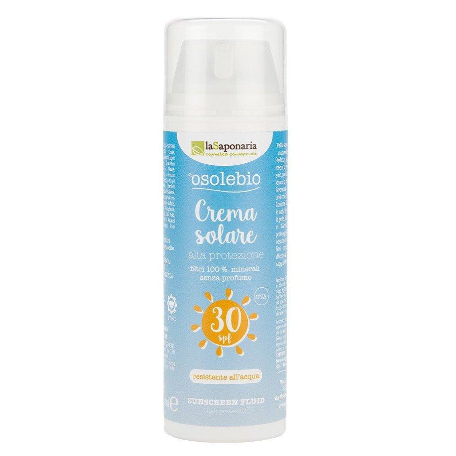 Osolebio - Crema solare SPF30 alta protezione Waterproof