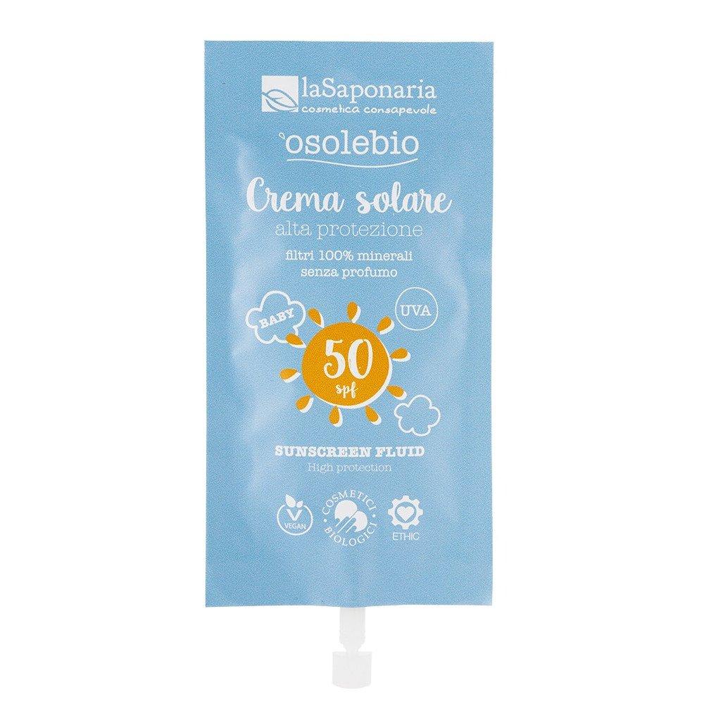 Osolebio - Crema solare SPF50 alta protezione Travel Size
