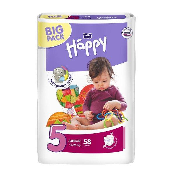 Pannolini Happy BellaBaby - 5 Junior 12/25kg 58 pezzi