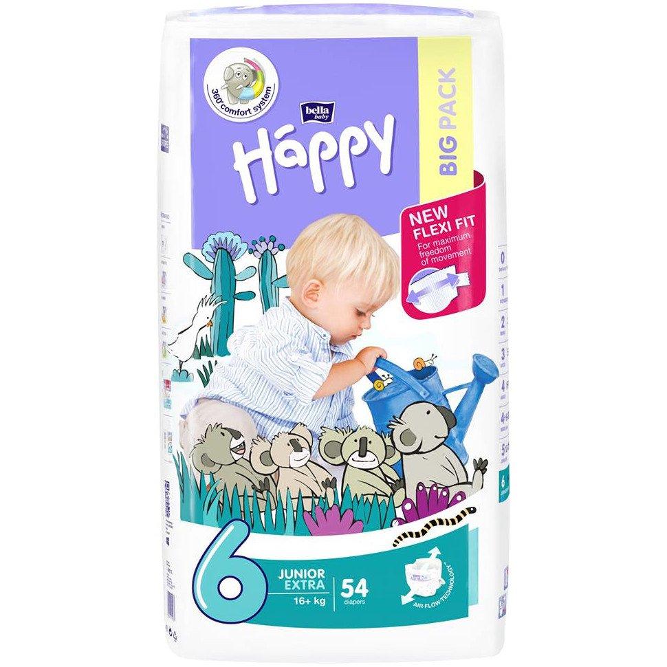 Pannolini Happy BellaBaby - 6 Junior extra 16+kg 54 pezzi