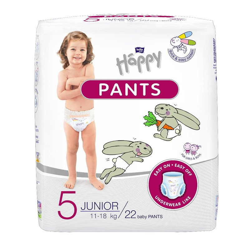 Pannolini Mutandina Happy - 5 Junior 11/18 kg 22 pz