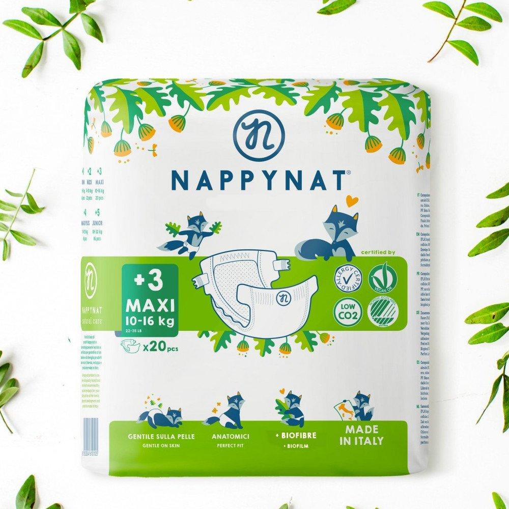 Pannolini Nappynat Ecologici 3+ Maxi 10/16 kg 20 pezzi
