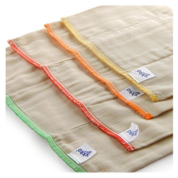 Pannolino lavabile Prefold cotone naturale SET 6 pezzi Regular