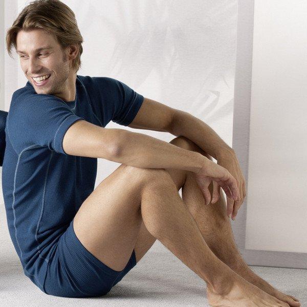 Pantaloncini uomo lana biologica/seta
