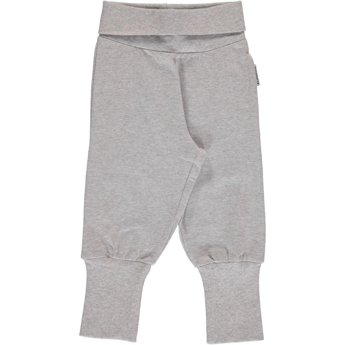 Pantalone Baby Grigio con polsini in cotone biologico
