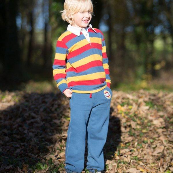 Pantalone felpato Rugby bambino in cotone bio