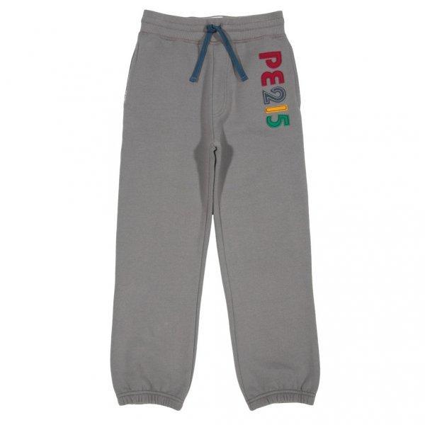 Pantalone felpato grigio bambino in cotone bio
