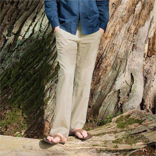 Pantalone uomo lino e cotone biologico