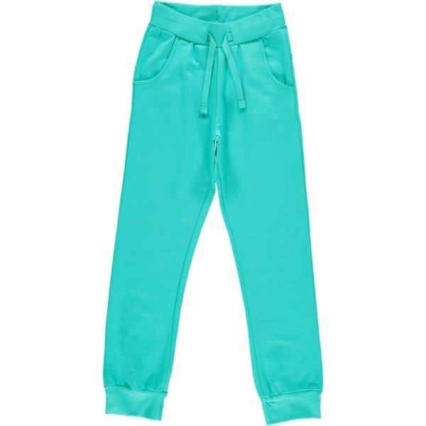 Pantalone tuta turchese Maxomorra in cotone biologico