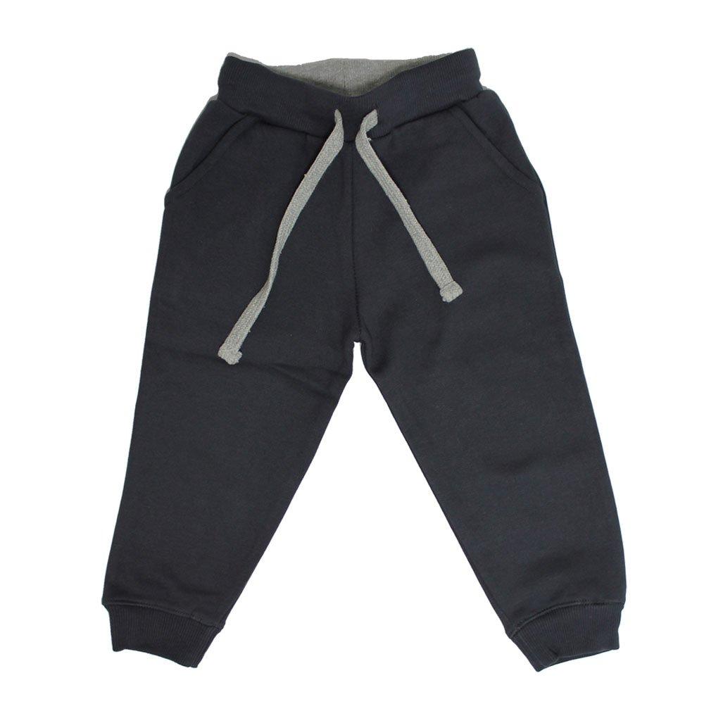 Pantalone tuta felpato grigio Jago in cotone biologico