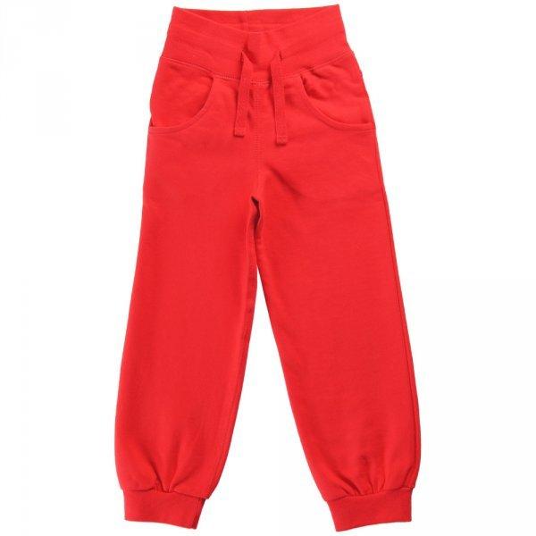 Pantalone tuta Rosso in cotone biologico