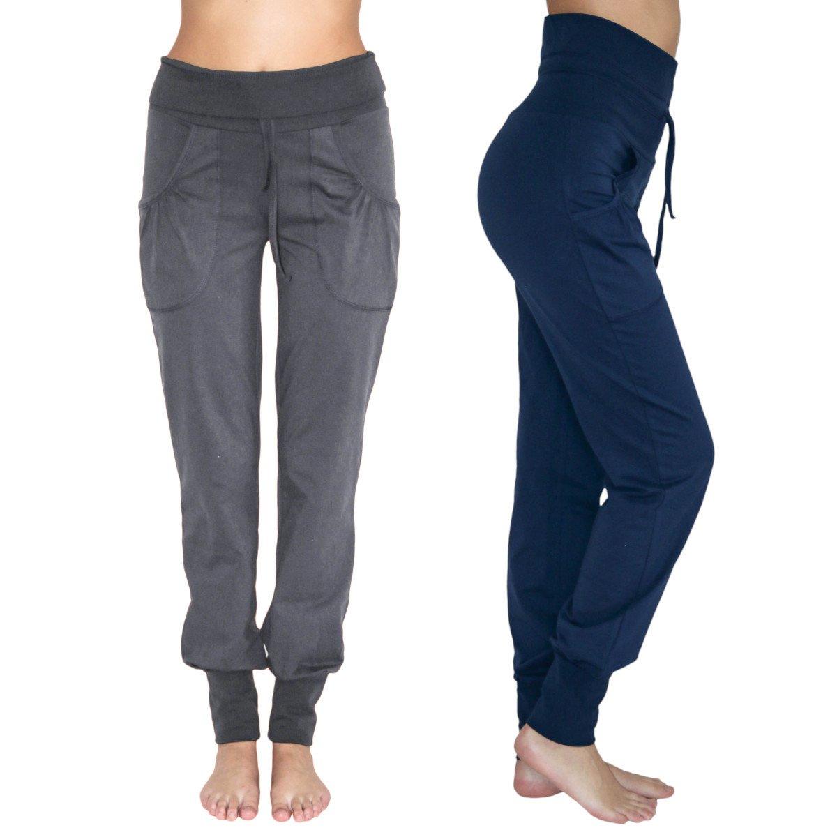 Pantalone Yoga con tasche in cotone biologico