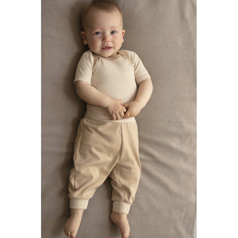 Pantaloni baby in cotone biologico non tinto