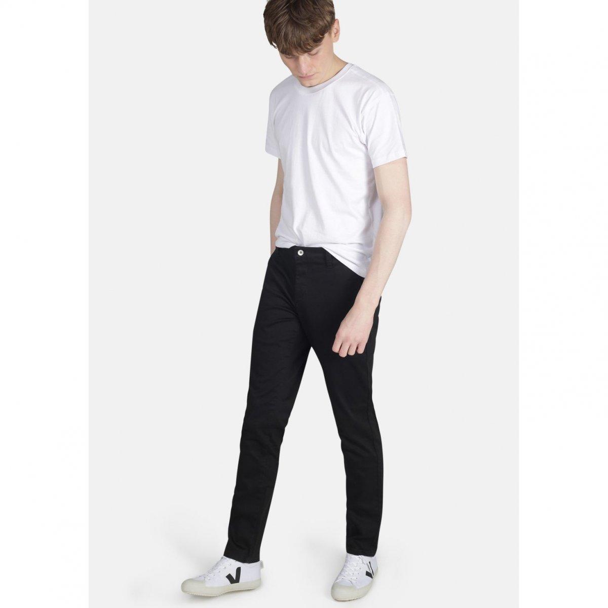 Pantaloni Chino Neri in cotone biologico