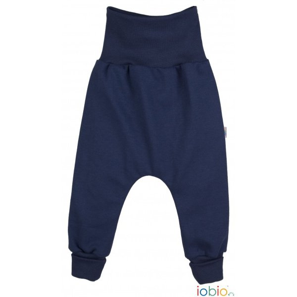 Pantaloni Crawlers Blu in cotone biologico