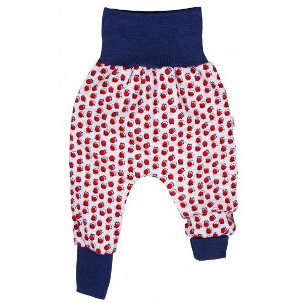 Pantaloni Crawlers Mirtillo in cotone biologico