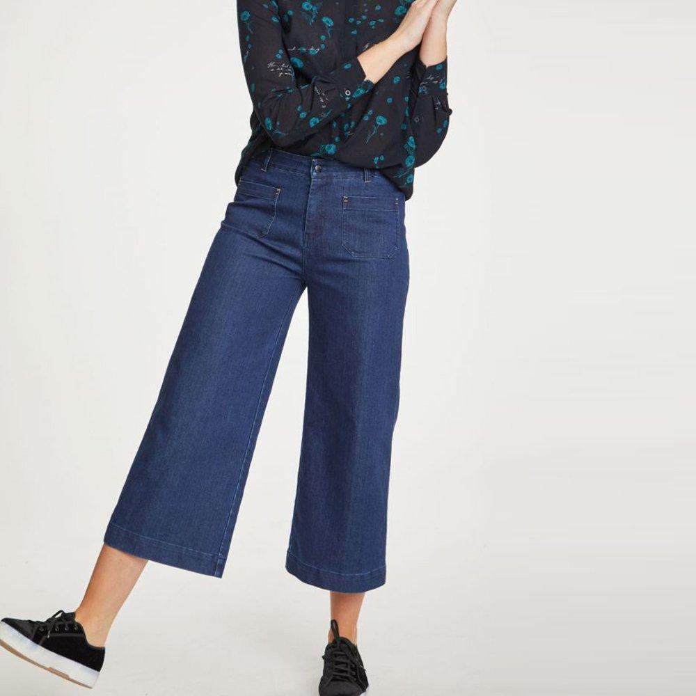 Pantaloni Crop Emilia in Cotone Biologico