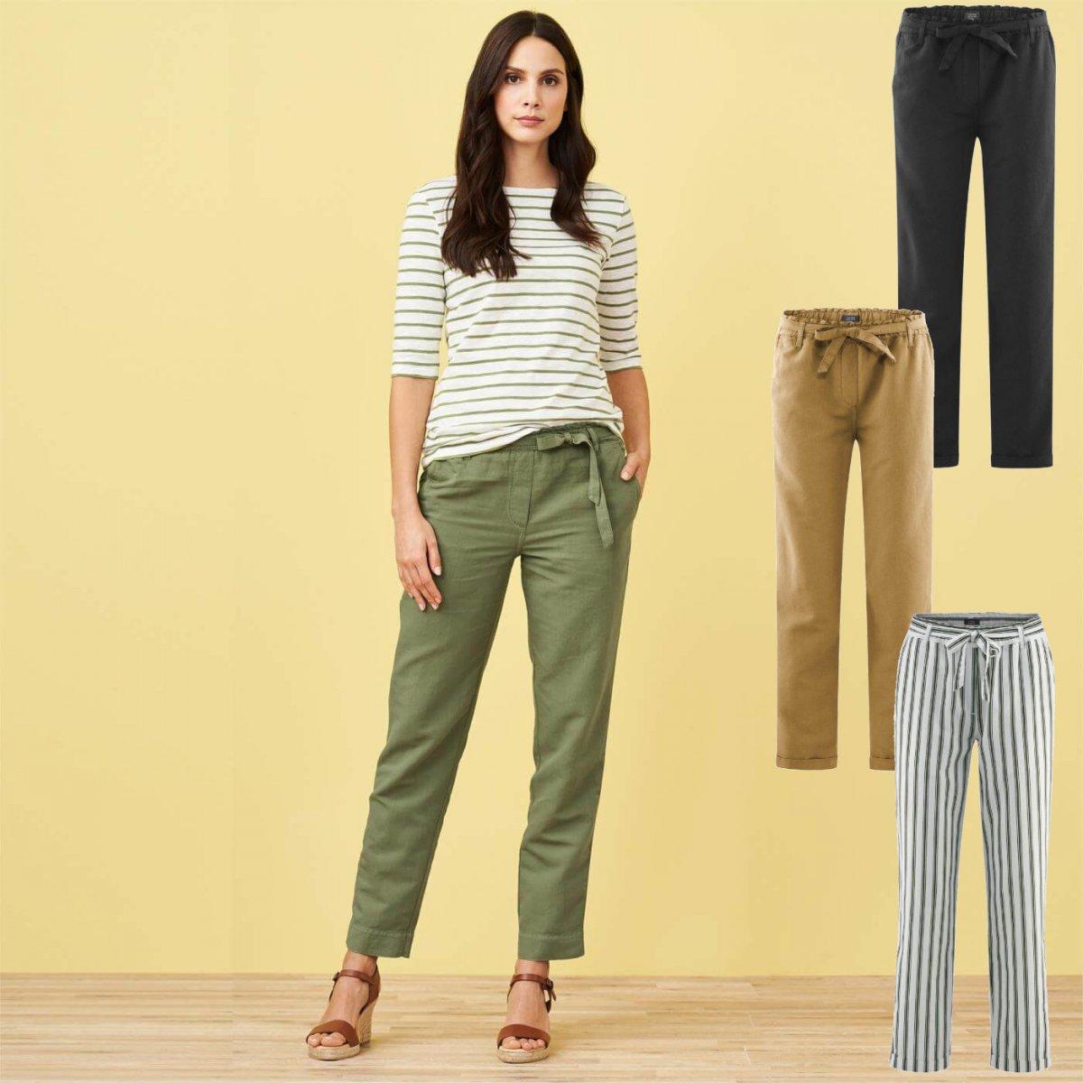 Pantaloni Donna Gill in Lino e Cotone Biologico
