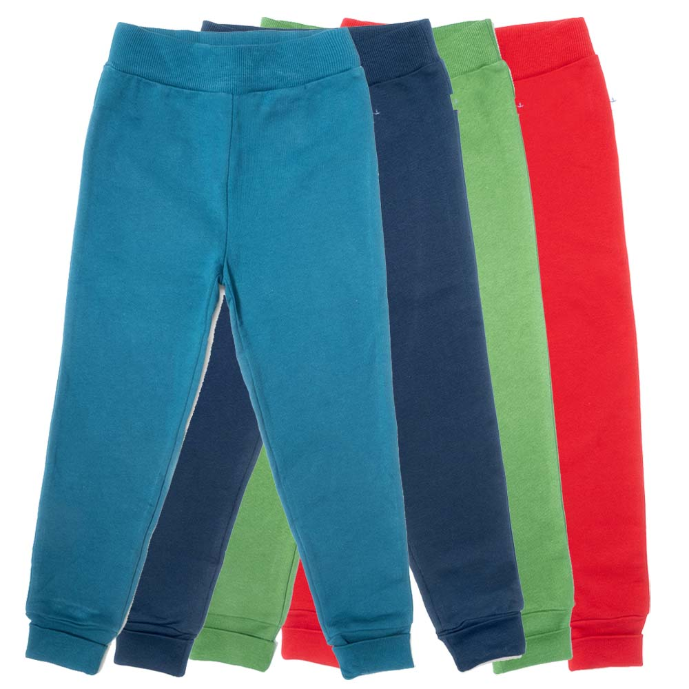 Pantaloni felpati in 100% cotone biologico