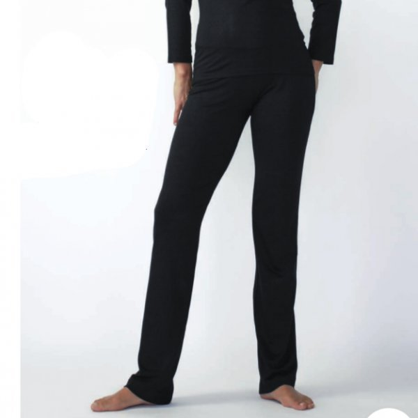 Pantalone in bambù nero o bianco