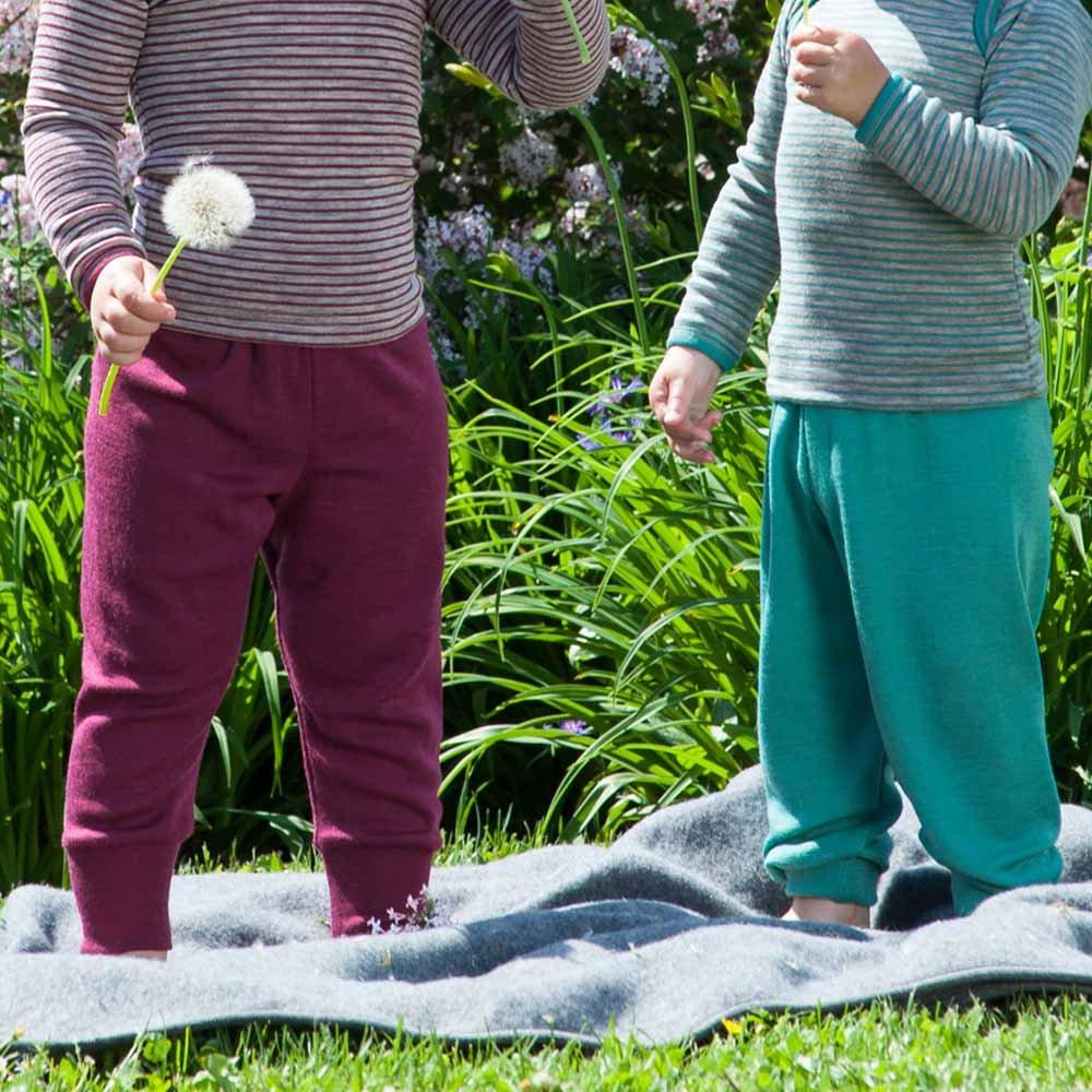 Pantaloni bambini in lana biologica e seta