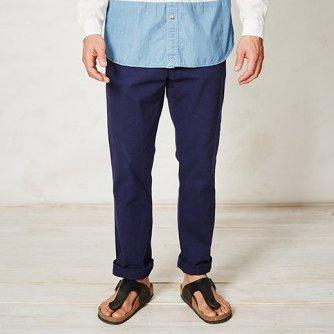 Pantaloni blu Pierre in cotone biologico