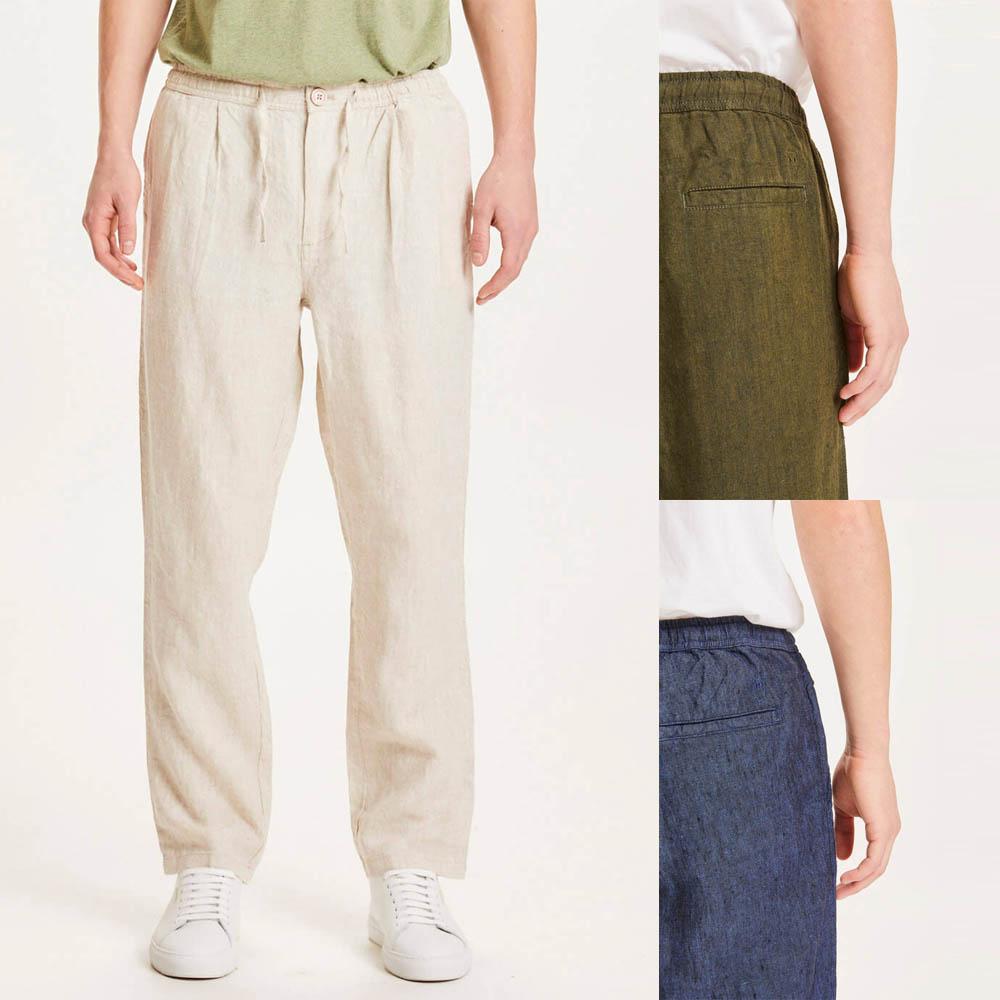 Pantaloni comodi da uomo in 100% Lino Biologico