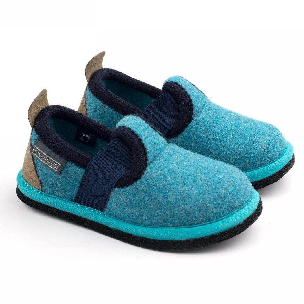 Pantofole Albus bambini in feltro di lana
