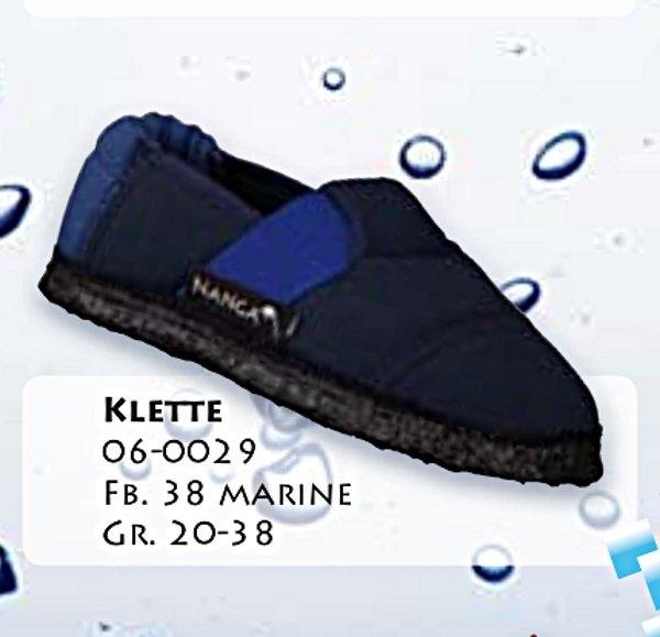 Pantofole in cotone biologico unisex Blu