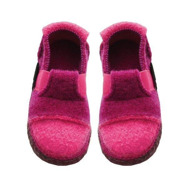 Pantofole Fuxia in lana biologica