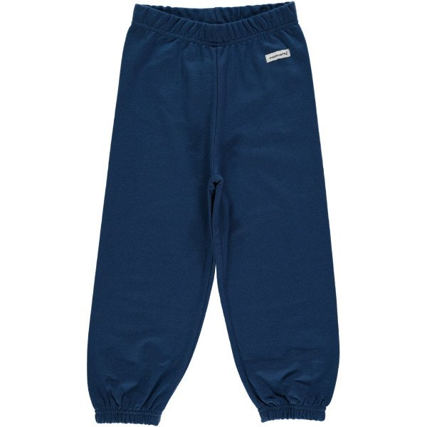 Pants dark blue Maxomorra in organic cotton