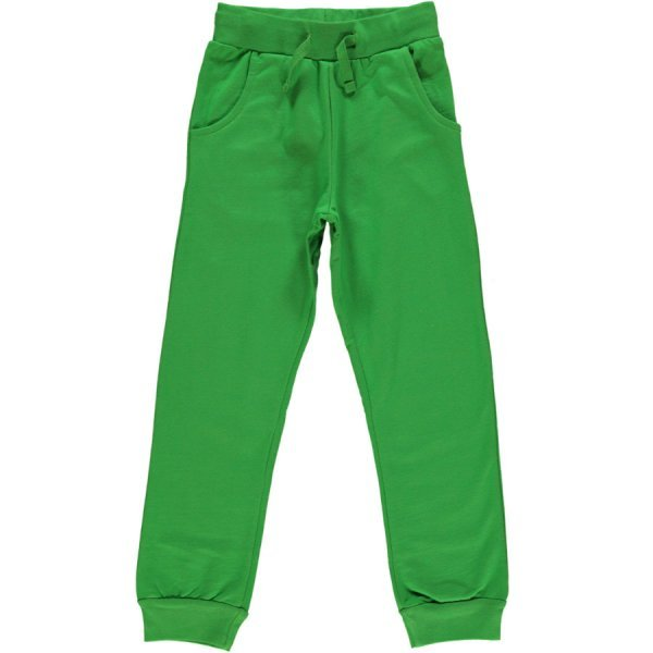 Pants dark green Maxomorra in organic cotton