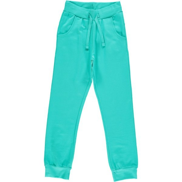 Pants turquoise Maxomorra in organic cotton