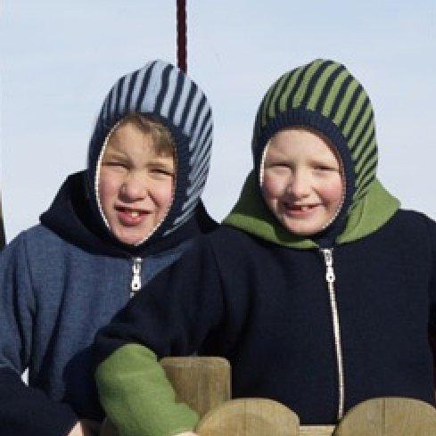 Passamontagna a righe in lana merino