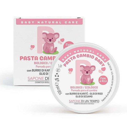 Pasta change material Baby Fiori di Riso with Shea and Zinc Oxide
